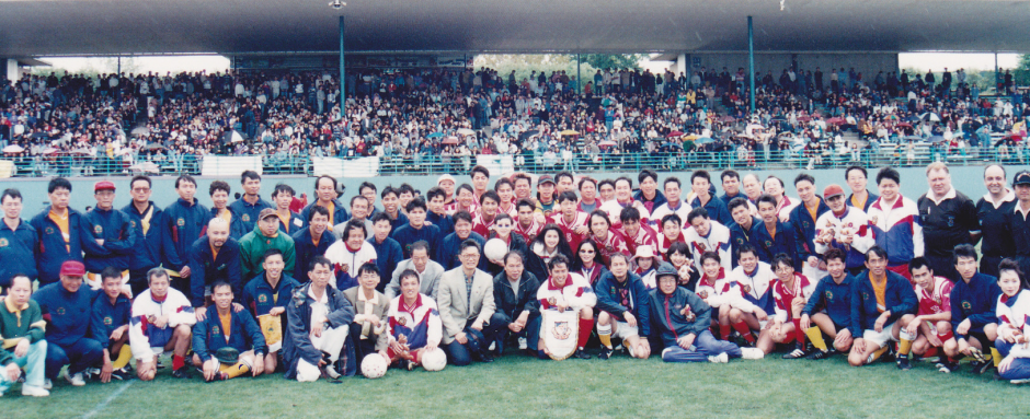 Hong Kong Movie Stars Soccer Teams v ACSA Representative Teams, E S Marks Athletics Field, Moore Park. 港明星足球隊 對 澳洲華人足球總會代表隊, 球場: E S Marks Athletics Field, Moore Park
