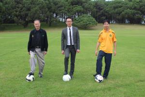 Kick- off Ceremony 22/3/2015, from Left: John Lok, Mr. Kan- Larke Hoskins Honda, Stephen Lee